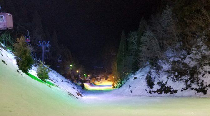 京都府唯一!京都広河原スキー場にナイター滑りに行った! 鹿八匹、狐一匹道中にいました。。。