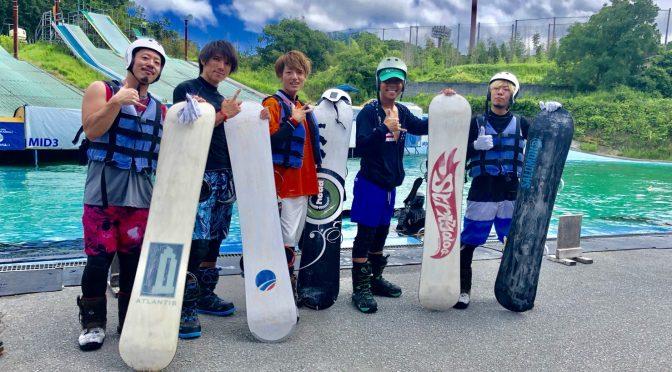 夏と言えば!!!ウォータージャンプ!!!からのエキスポシティ!!!体酷使。。。