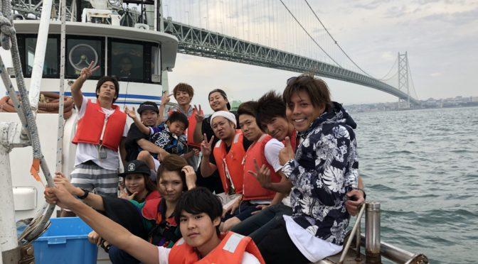 淀川ウェイクボードから淡路島へ!!!初の海釣り♪